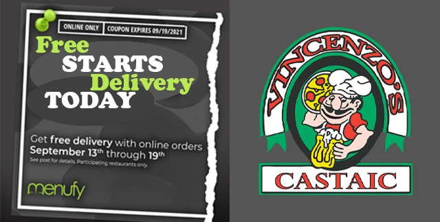 Free Delivery This Week In Castaic   Vincenzo's Pizza Castaic